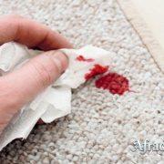 تفاوت پاک کردن لکه خون از فرش در منزل با قالیشویی