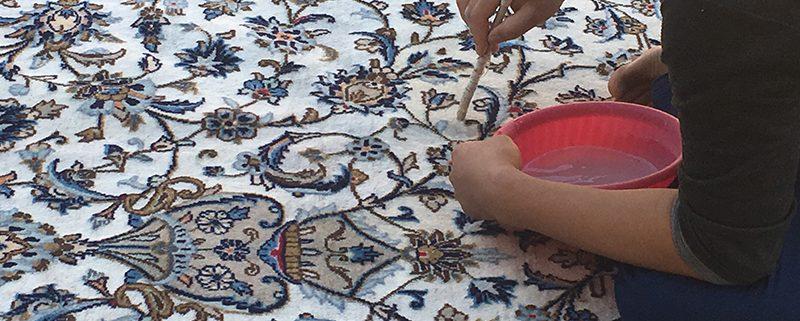 ترفند قالیشویی برای قاطی نشدن رنگ فرش دستباف