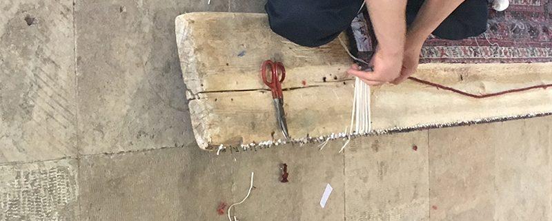 روش های ترمیم ریشه فرش در قالیشویی