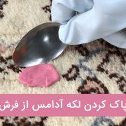 روش های پاک کردن لکه آدامس از روی فرش
