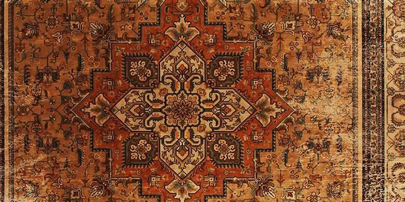 نمونه از فرش زرداب زده