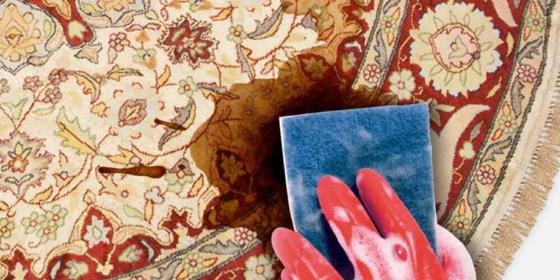 لکه های آب میوه روی فرش های دستباف